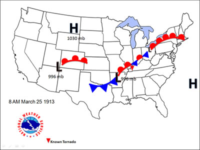How To Make A Weather Map.Storms And Weather The Storms Of March 23 27