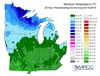 MRCC Resources Climate Tools - Midwest region map