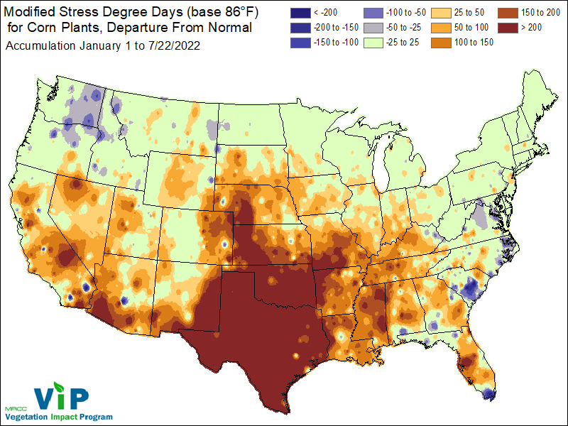 Midwest Climate Watch Special Topics Agriculture - Gdd base 50 map us
