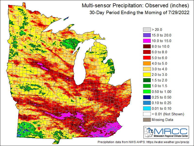 Observed Precipitation Last 30 Days