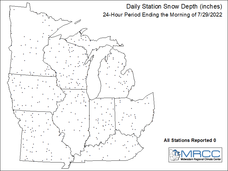 Midwest Snow Depth