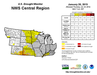 Central Region Drought Monitor