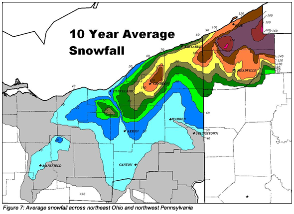 The Climate Observer November - Snowfall us map