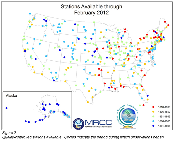 Figure 2 Map Of Quality Controlled Stations