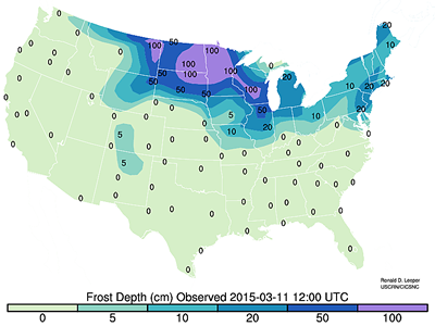 The Climate Observer March - Frost line map us
