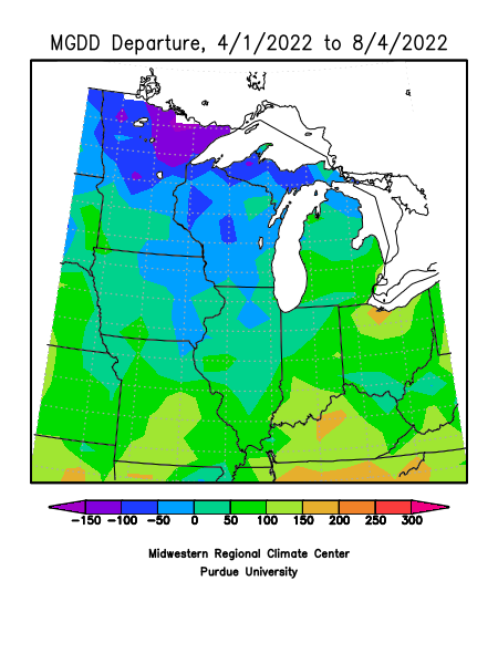 MRCC Climate Watch - Growing Degree Day Maps on