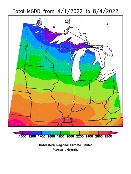 Midwest Growing Degree Day (GDD) Map
