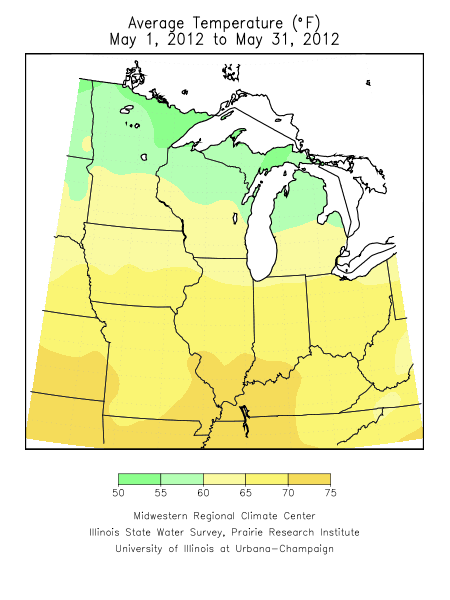 May 2012 Average Temperature