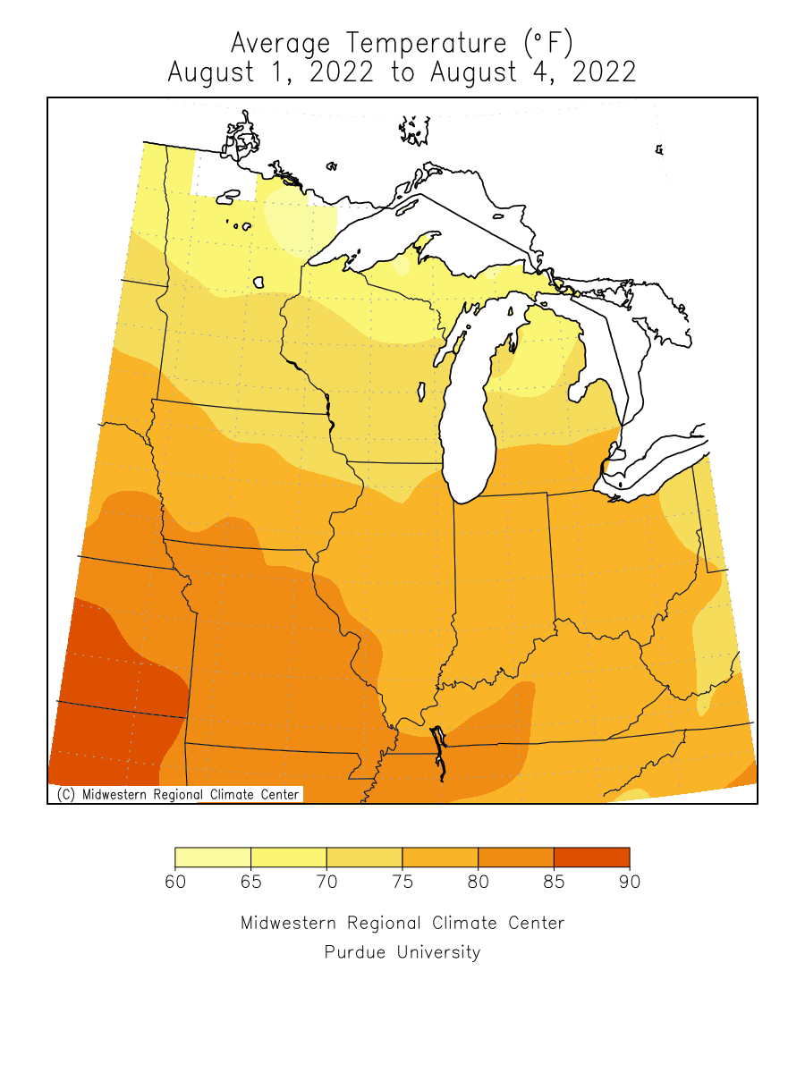 average temperature map