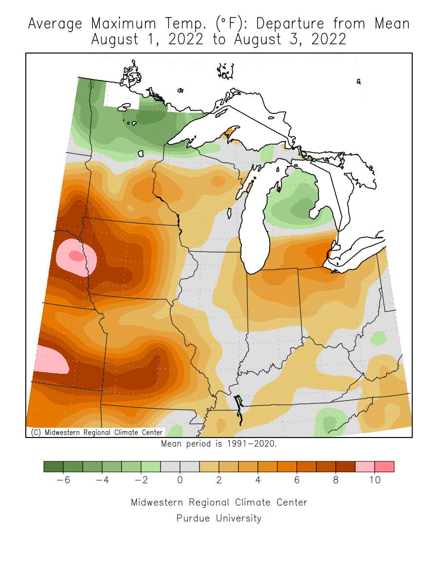 Midwest Climate Watch Special Topics Drought Drought June - Us soil temperature map