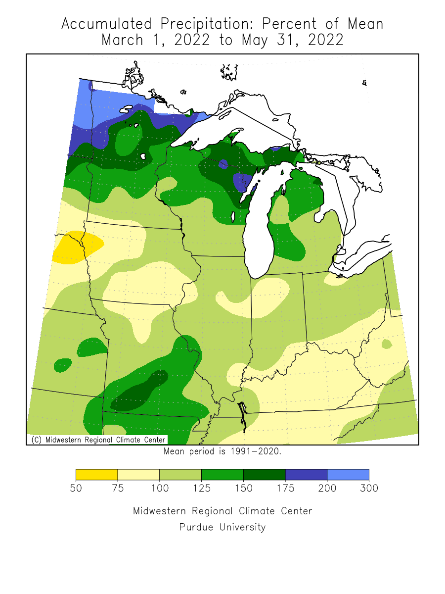 Spring 2012 Precipitation Percent of Mean