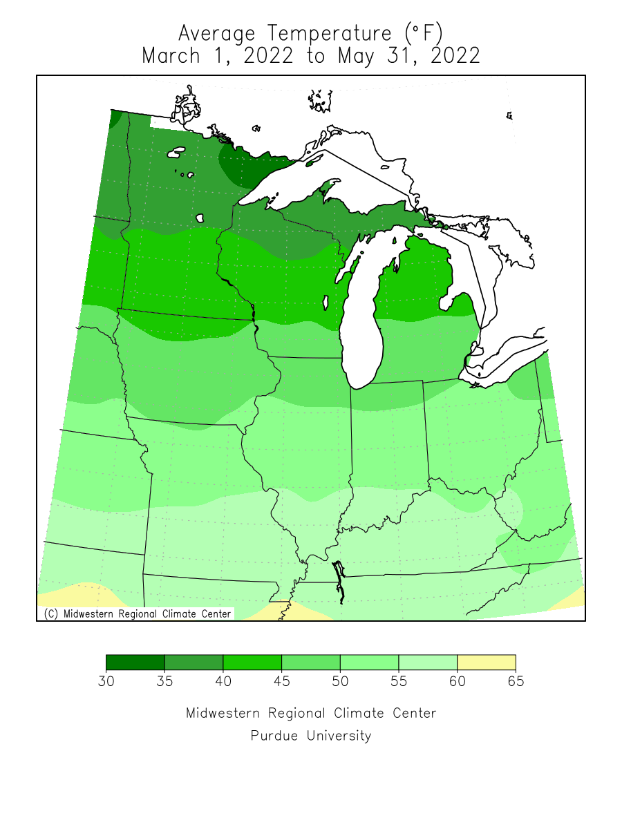 Spring 2012 Average Temperature