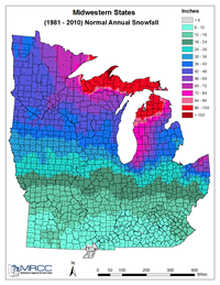 MRCC Midwest Climate Watch Maps And Images - First snow map us