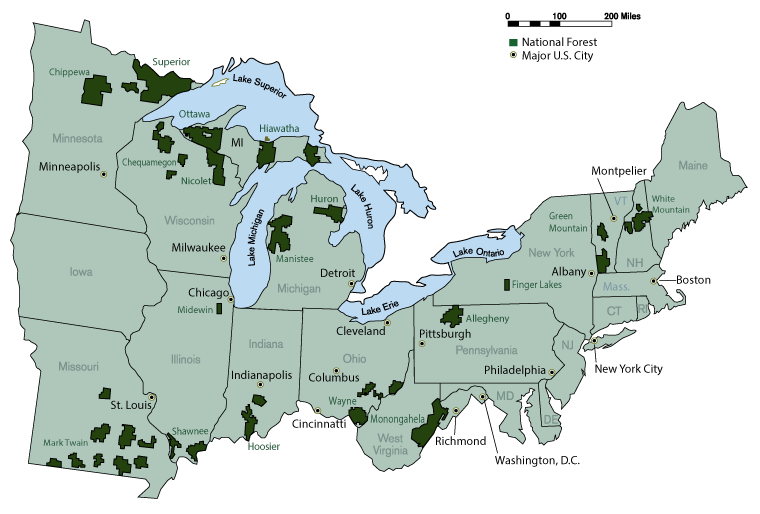 Us Forest Service Eastern Region Map