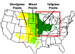 MRCC Living With Weather Wildfires - Map of midwestern states