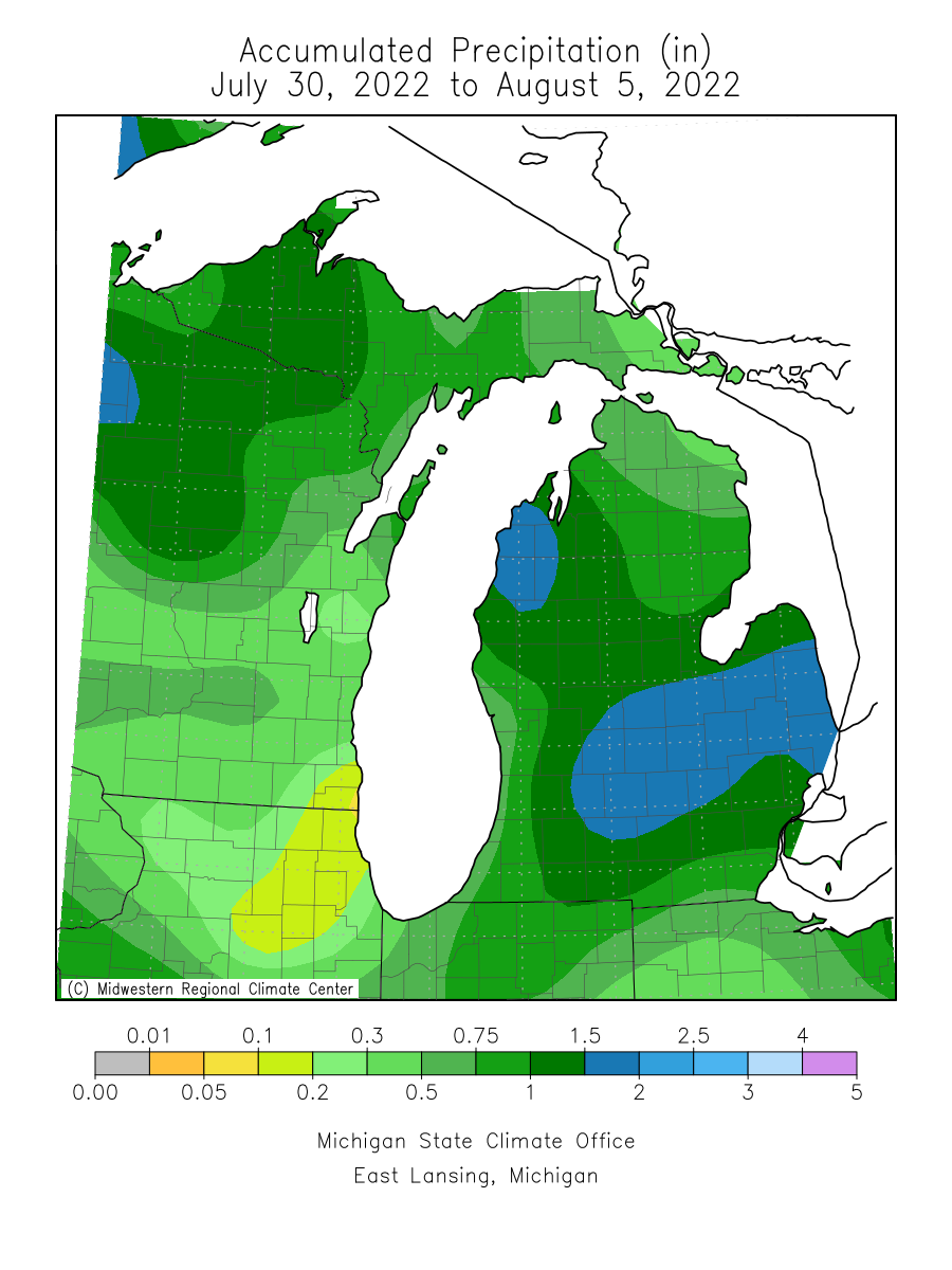 Total Precip last 7 days